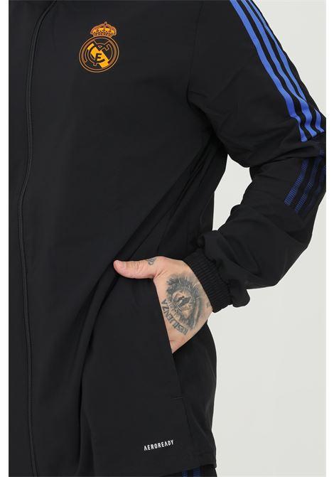 Giacca da rappresentanza tiro real madrid uomo nero adidas con zip ADIDAS | Felpe | GR4332.