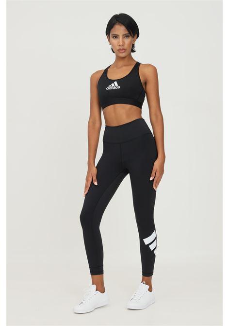 Leggings donna nero adidas con stampa logo sul retro ADIDAS | Leggings | GR8098.
