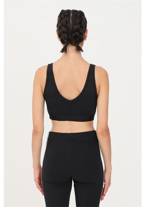 Black women's top by adidas with contrasting logo on the front ADIDAS | Top | GS1343.