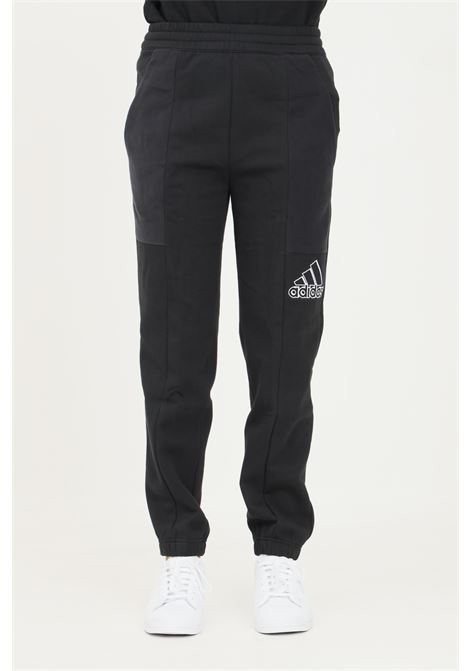 Black brand love embroidered logo trousers by adidas ADIDAS | Pants | GS1358.