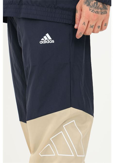 Blue men's tracksuit by adidas sweatshirt and trousers ADIDAS   Suit   GT3730.