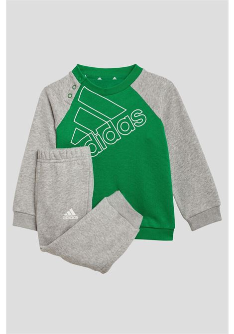 Green grey newborn by adidas with maxi logo on the front ADIDAS   Suit   GT5677.