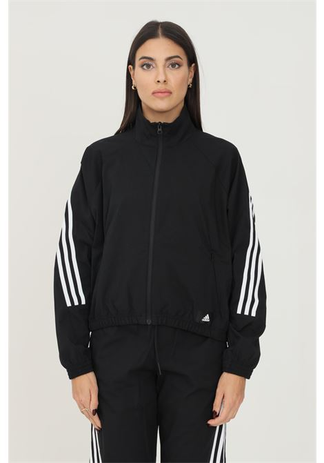 Giacca da allenamento adidas sportswear future icons woven donna nero con zip ADIDAS   Giubbotti   GU9684.