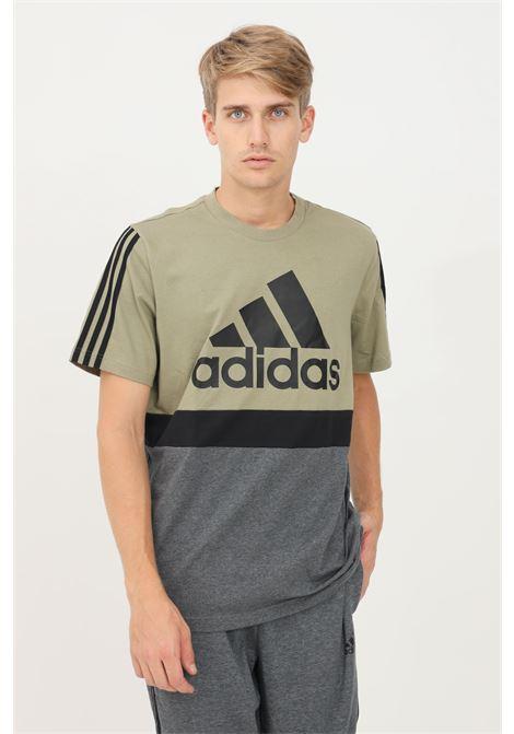 T-shirt essential colorblock uomo verde adidas a manica corta ADIDAS | T-shirt | GV5248.