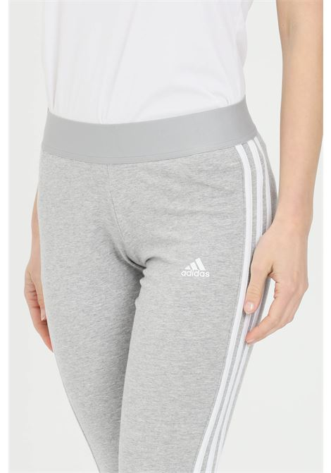 Grey women's leggings with side bands adidas ADIDAS   Leggings   GV6017.