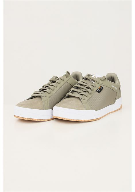 Green men's court tourino sneakers by adidas ADIDAS | Sneakers | GW2877.