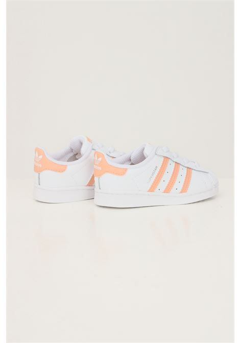 Sneakers superstar neonato bianco adidas con bande rosa a contrasto ADIDAS | Sneakers | GZ2882.