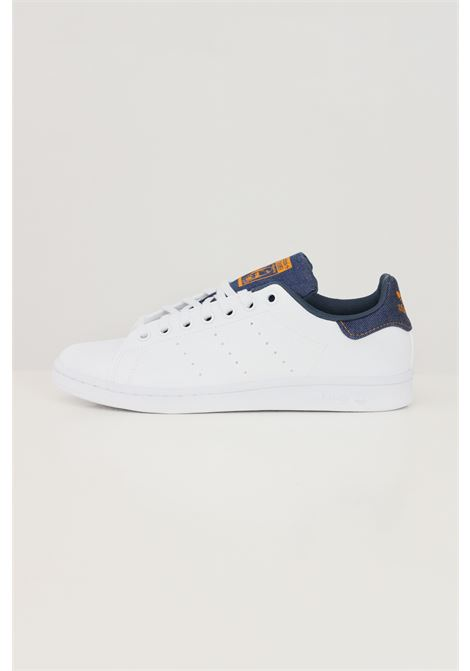 White unisex stan smith j sneakers by adidas with denim inserts ADIDAS | Sneakers | GZ7359J.