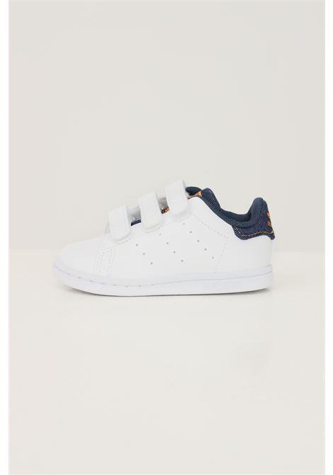Sneakers stan smith cf I neonato bianco adidas con inserti in denim ADIDAS | Sneakers | GZ7361.