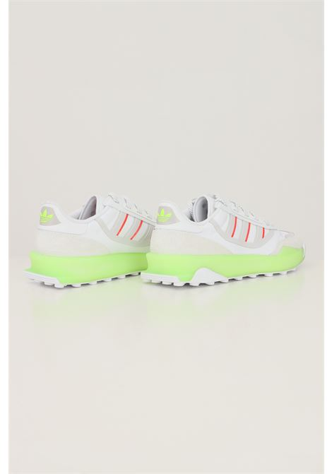White men's indoor ct sneakers by adidas with fabric and rubber inserts ADIDAS | Sneakers | GZ7854.