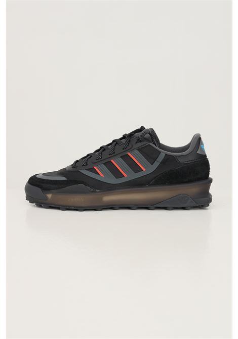 Black men's indoor ct sneakers by adidas with fabric and rubber inserts ADIDAS | Sneakers | GZ7856.