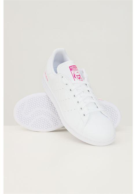 White women's stan smith j sneakers by adidas ADIDAS | Sneakers | GZ8365j.