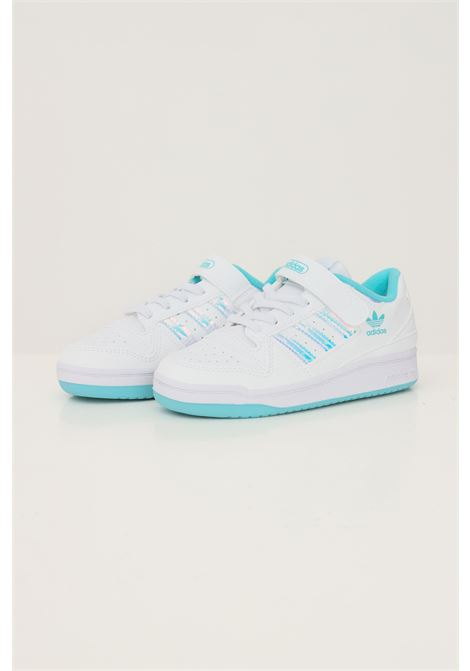 Sneakers forum c iridescent bambina bianco adidas con bande iridescenti ADIDAS | Sneakers | GZ8846.