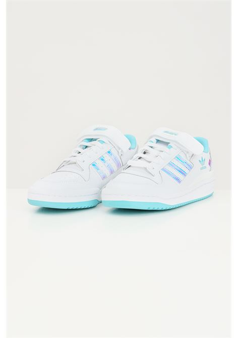 White women's forum j iridescent sneakers by adidas ADIDAS | Sneakers | GZ8963j.