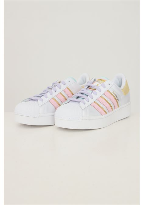 White women's superstar bold w sneakers with contrasting bands ADIDAS | Sneakers | H00681.