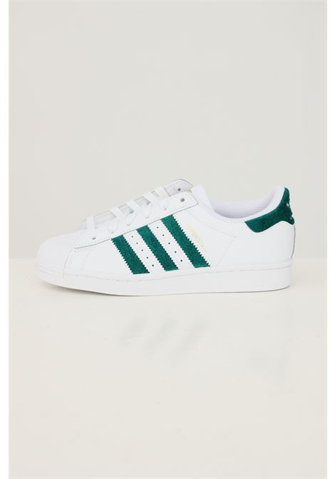 White unisex superstar j sneakers by adidas ADIDAS | Sneakers | H03976J.