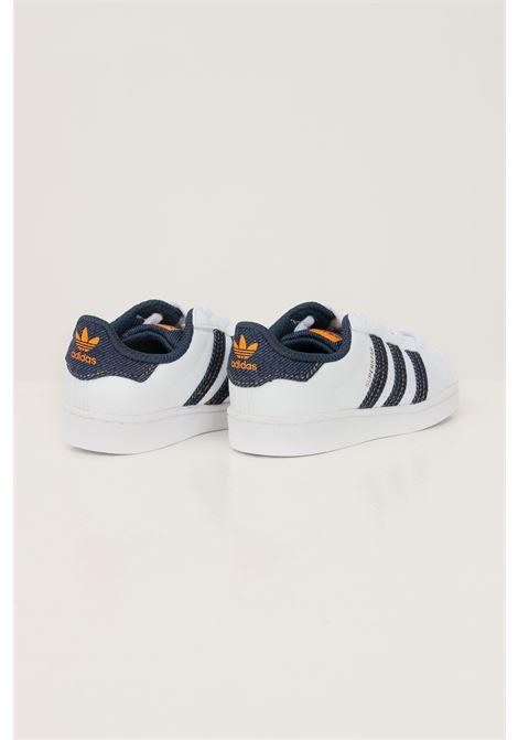 Sneakers superstar el i neonato bianco adidas con inserti in denim ADIDAS | Sneakers | H04031.
