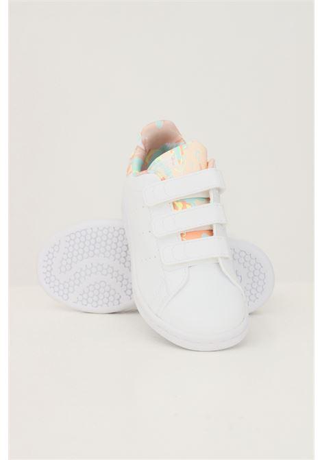 Sneakers stan smith bambina bianco adidas con stampa pastello ADIDAS | Sneakers | H06551.