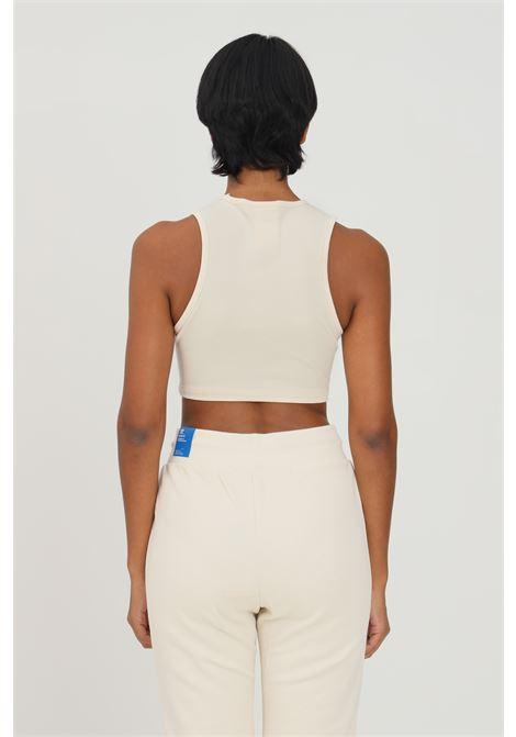 Cream essentials rib tank top by adidas  ADIDAS | Top | H06611.
