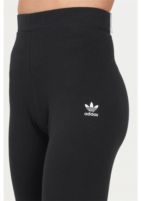 Black loungewear adicolor essentials leggings by adidas with contrasting logo ADIDAS   Leggings   H06625.