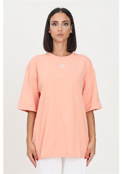 T-shirt loungewear adicolor essentials donna rosa adidas a manica corta ADIDAS   T-shirt   H06647.
