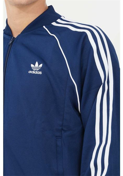 Felpa track jacket adicolor classics primeblue sst uomo blu adidas con zip ADIDAS | Felpe | H06710.