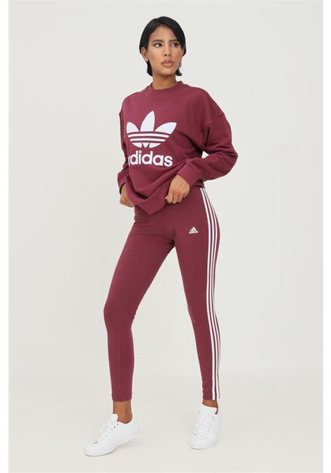 Leggings loungewear essentials 3 stripes bordeaux adidas ADIDAS | Leggings | H07773.