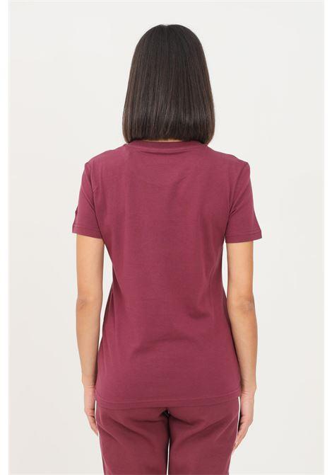Bordeaux women's loungewear essentials slim logo t-shirt by adidas short sleeve ADIDAS | T-shirt | H07832.