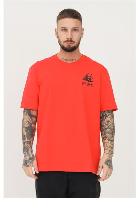 T-shirt adidas adventure polar bear uomo corallo a manica corta ADIDAS | T-shirt | H09084.