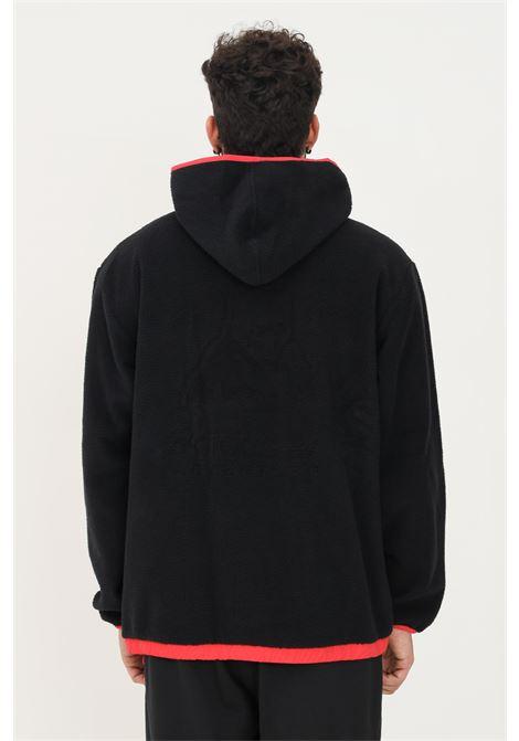Hoodie adidas adventure polar fleece uomo nero con cappuccio ADIDAS   Felpe   H09089.