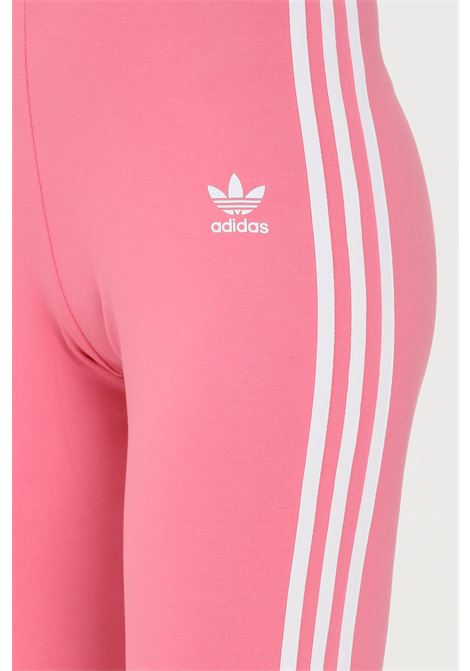 Pink tight adicolor classics 3-stripes leggings by adidas with side bands in contrast ADIDAS   Leggings   H09422.
