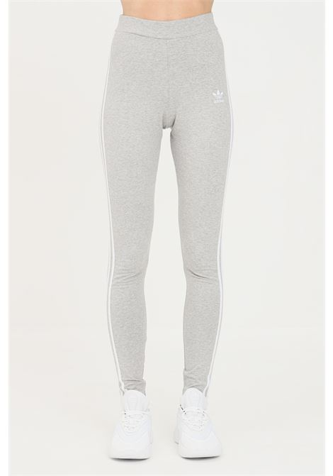 Grey women's tight adicolor classics 3-stripes leggings by adidas ADIDAS   Leggings   H09425.