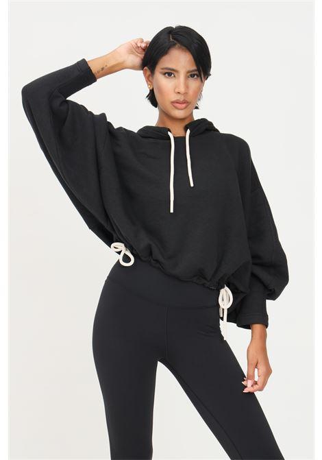 Felpa sportswear studio lounge fleece nero donna con cappuccio adidas ADIDAS | Felpe | H11265.