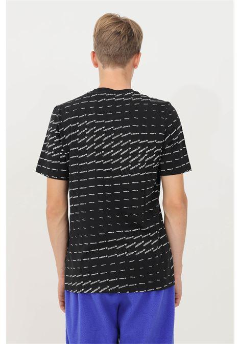 T-shirt monogram uomo nero adidas a manica corta ADIDAS | T-shirt | H13440.
