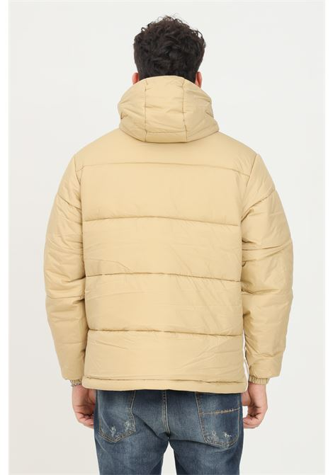 Giacca imbottita padded hooded uomo beige adidas con zip frontale ADIDAS | Giubbotti | H13556.