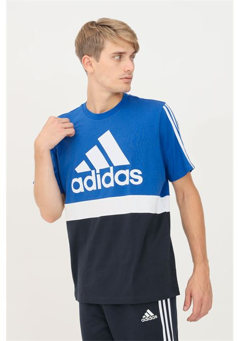 T-shirt essential colorblock uomo blue adidas a manica corta ADIDAS | T-shirt | H14628.