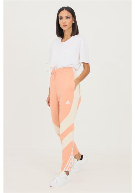 Pink women's adidas sportswear colorblock trousers ADIDAS | Pants | H15965.