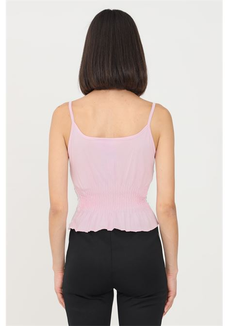 Pink women's top by adidas with flounces ADIDAS | Top | H17933.