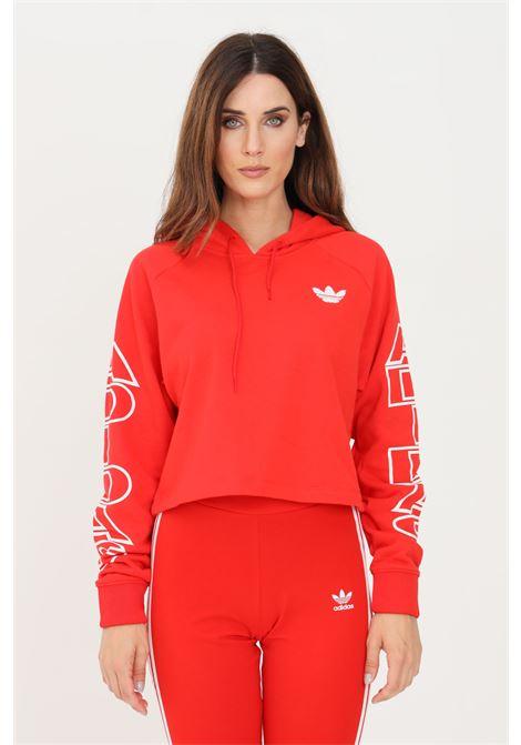 Red women's originals hoodie by adidas ADIDAS | Sweatshirt | H20233.