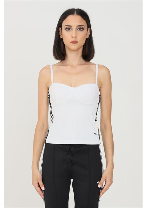 White women's top by adidas corset model ADIDAS | Top | H20241.