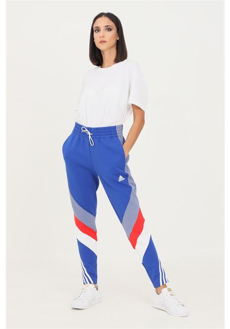 Blue women's adidas sportswear colorblock trousers ADIDAS | Pants | H20453.