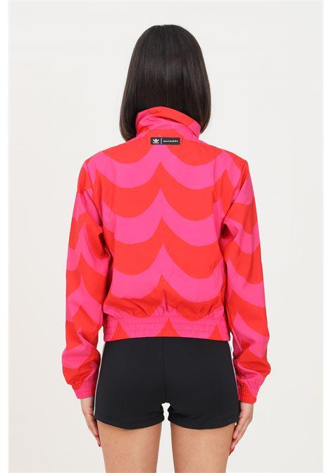 Giacca a vento donna rosa rosso adidas con zip ADIDAS | Giubbotti | H20484.