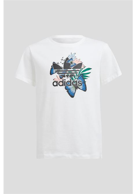 T-shirt bianco bambina adidas con stampa sul fronte ADIDAS | T-shirt | H22603.