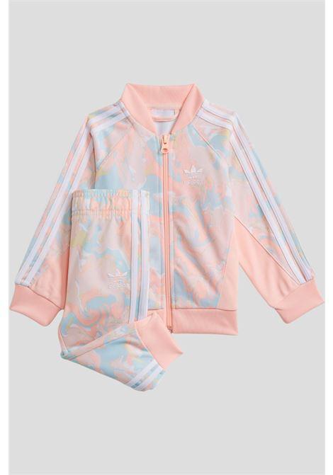 Pink newborn marble adidas print sst suit  ADIDAS | Suit | H22633.