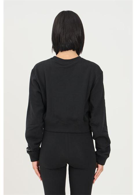 Black women's sweatshirt by adidas, short cut ADIDAS | Sweatshirt | H22854.