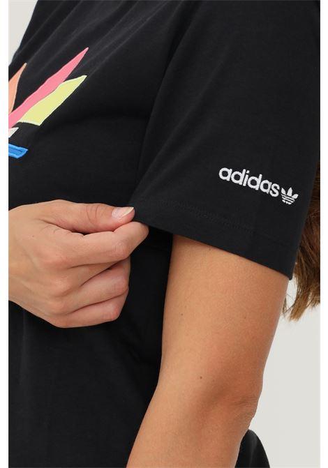 T-shirt shattered trefoil donna nero adidas a manica corta ADIDAS   T-shirt   H22859.