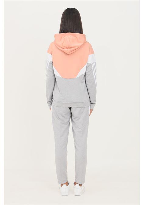 Grey pink women's adidas sportswear colorblock trousers  ADIDAS | Suit | H24116.
