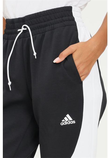 Pantaloni adidas sportswear colorblock donna nero sport ADIDAS | Pantaloni | H24173.