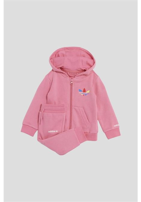 Pink newborn suit by adidas with hood ADIDAS | Suit | H25230.