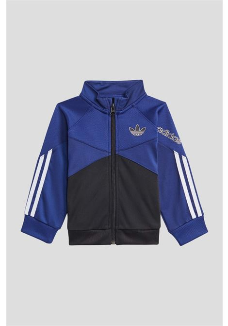 Blue black newborn adidas sprt track suit  ADIDAS   Suit   H25243.